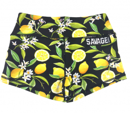 Booty Short Lemon Drop – Black